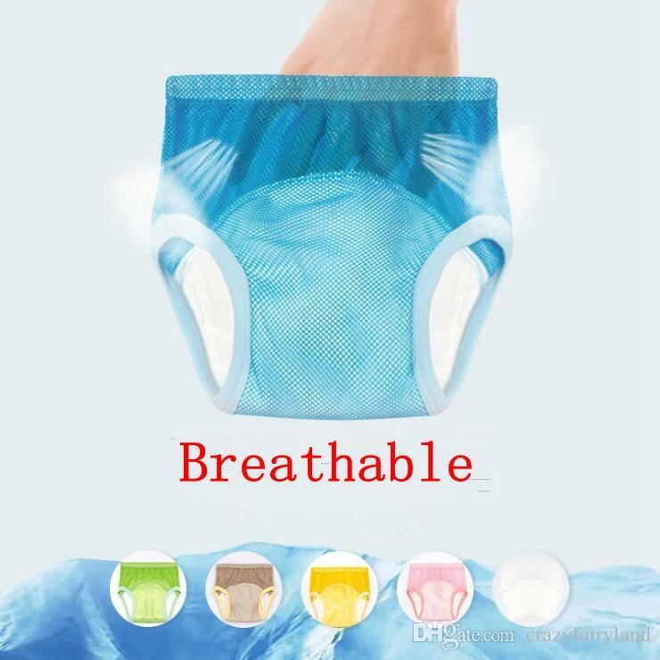 Pantalones de entrenamiento unisex Bragas Bebé Lavable Malla transpirable Pañal Pañal Cubierta reutilizable Envoltura Trajes Nacimiento para pañal Inserciones de pañal 6M-6Y