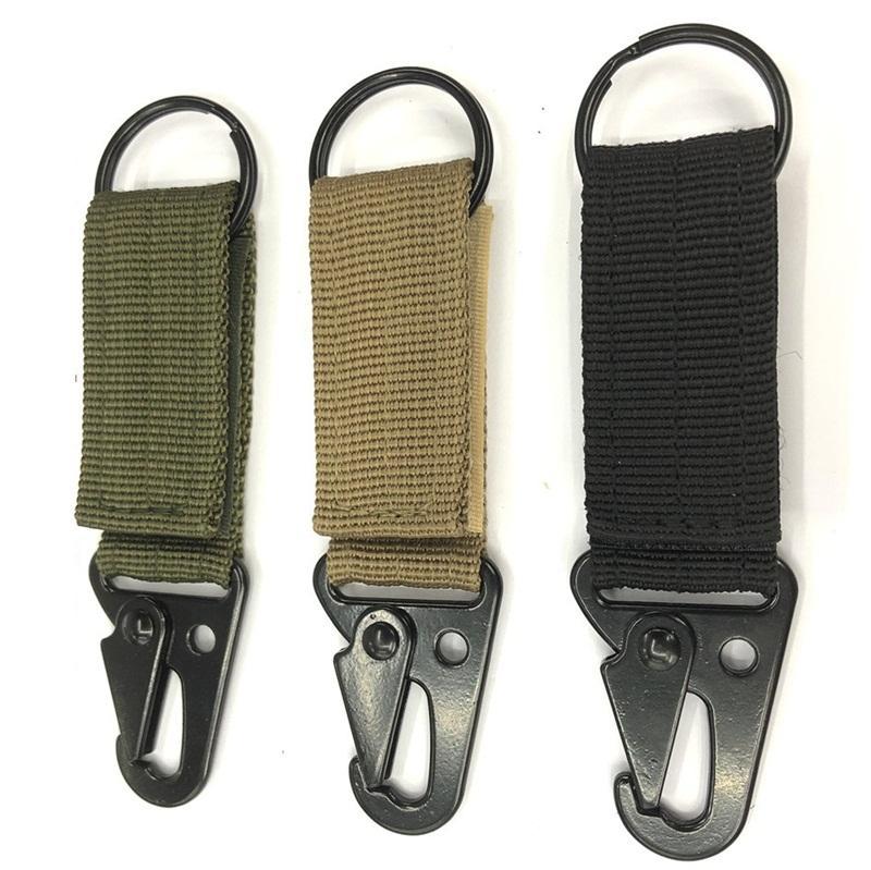 حبل نسج حلقة تسلق outdoor التكتيكية تسلق الزعنفة هوك حزام حقيبة قلادة متعددة الوظائف مفتاح سلسلة التخييم اكسسوارات 1 5hj n1