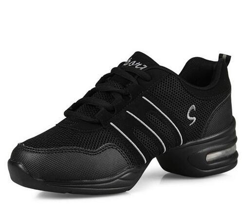 Zapatos de baile para mujer Característica deportiva Zapatos de jazz de baile moderno Suela suave Zapatos de baile de aliento Zapatillas de deporte femeninas EU 34-42