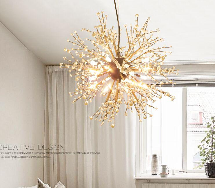Vintage Hanging Lamp LED Modern Crystal Globe Ball Pendant Lights Chandelier Lighting Ceiling Light Fixtures for Resturant Foyer Living MYY