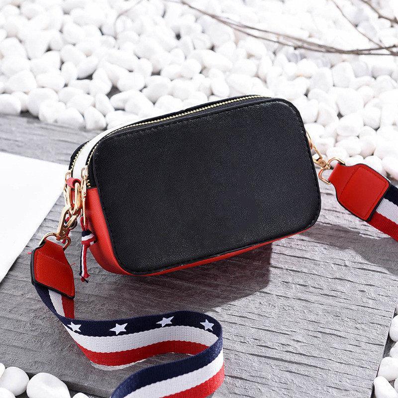 Diseñador bolsas de hombro bolsos crossbody Mujer de la aleta del paquete niñas bolsa de mensajero de la PU de la cámara del cuero del paquete del color del golpe
