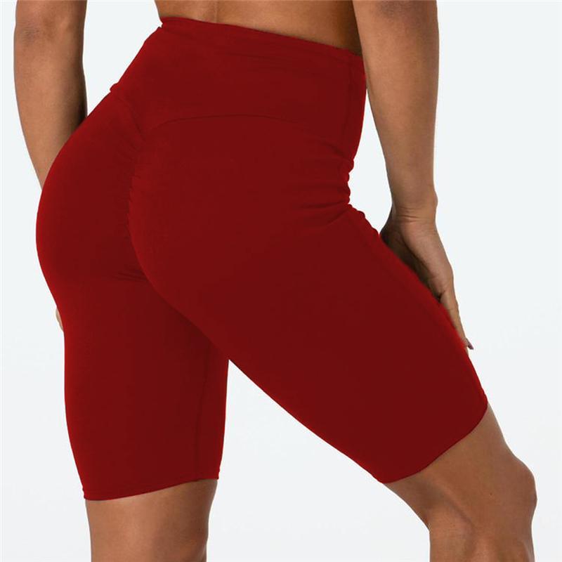 Nuevo Deporte de la Mujer Pantalones Cortos de Fitness Cintura Alta Pantalones Cortos de Ciclo Damas Soft Stretch Leggings Casual Entrenamiento Verano