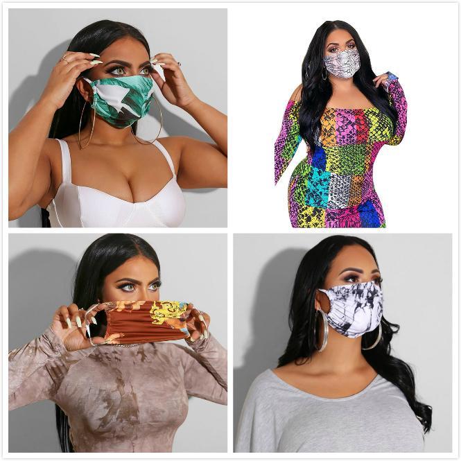 El diseñador de moda de la mascarilla del polvo anti-ultravioleta boca de la prueba-mufla Mujeres Cara Máscaras de lujo impresión de la letra Máscara Marca protector lavable cara