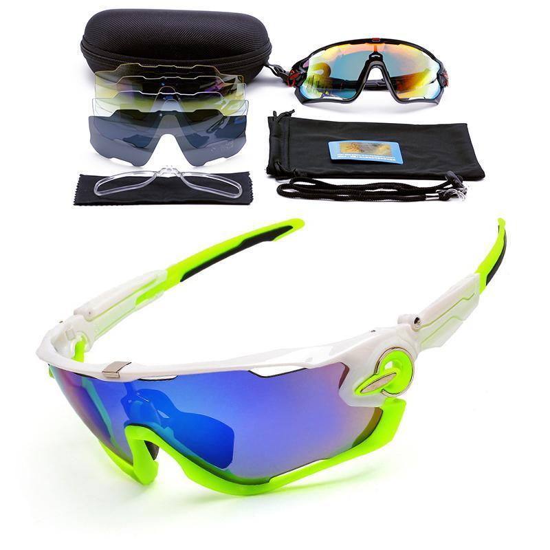 Occhiali da sole da uomo 3 lenti bici occhiali polarizzati occhiali da ciclismo occhiali da sole lunetta soleil homme sport equitazione occhiali da sole con montatura miopia