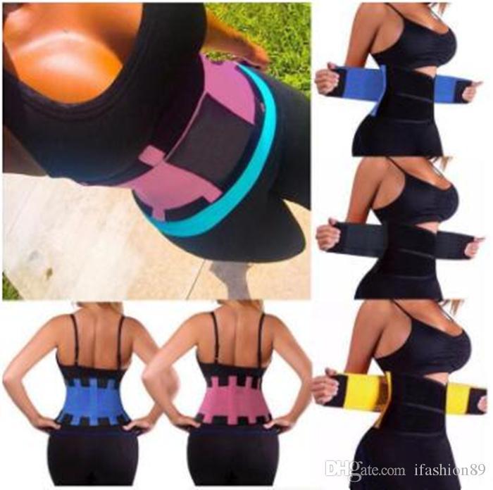 Hot Body Shapers Unisex Waist Cincher Trimmer Tummy Slimming Belt Latex Waist Trainer For Men Women Postpartum Corset Shapewear Epacket Free