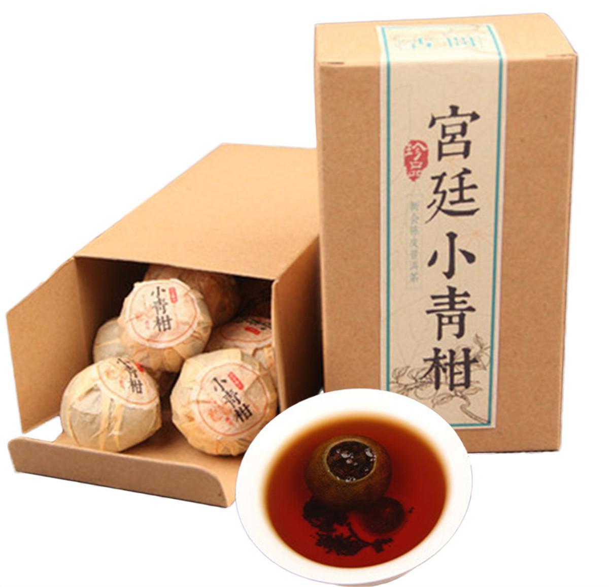 Yunnan Puerh Tee Xinhui Citrus Puer kleine grüne Zitrus gekocht pu er Schwarzer Tee Boxed 100g Chinesische Puer Grüne Lebensmittel Reife Puerh
