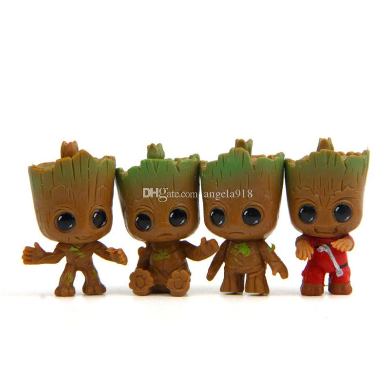 Guardians of the Galaxy PVC Doll Toys 2019 New Cartoon movie Action Figure Small Groot Toys kid Gift 4 styles C6735