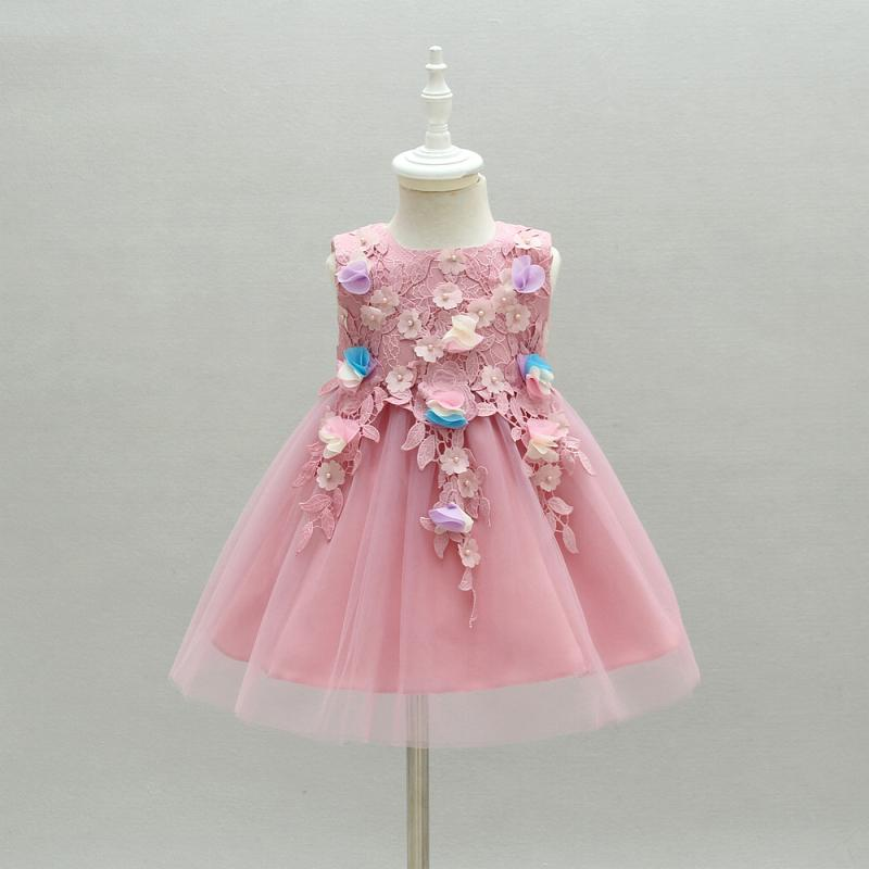 Bebé niña vestidos de fiesta de la boda 1 Año niña del cumpleaños del vestido vestidos del recién nacido verano Gril vestido de cumpleaños