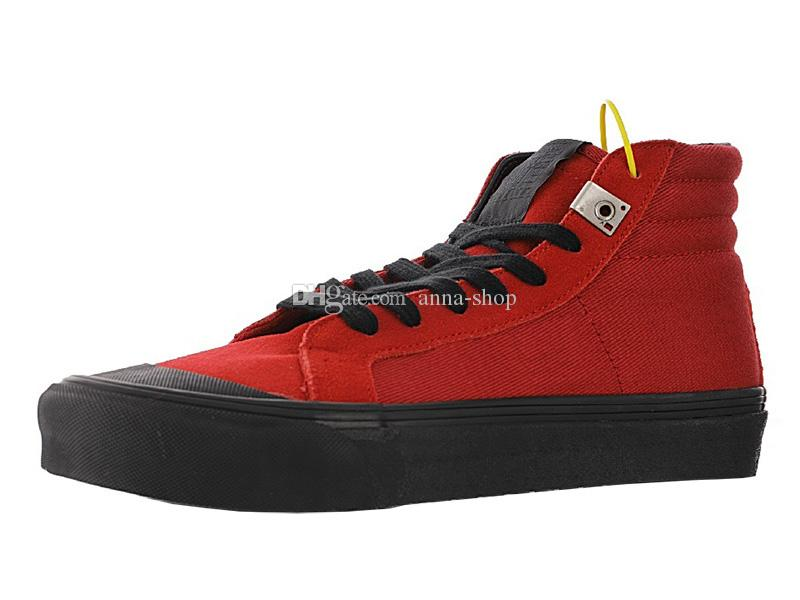 Mens Alyx Vault OG Style 138 scarpe LX tela di canapa per Scarpe da ginnastica Uomo Donna Casual Womens Skateboard Donne Boot Peperoncino Skate stivali da uomo