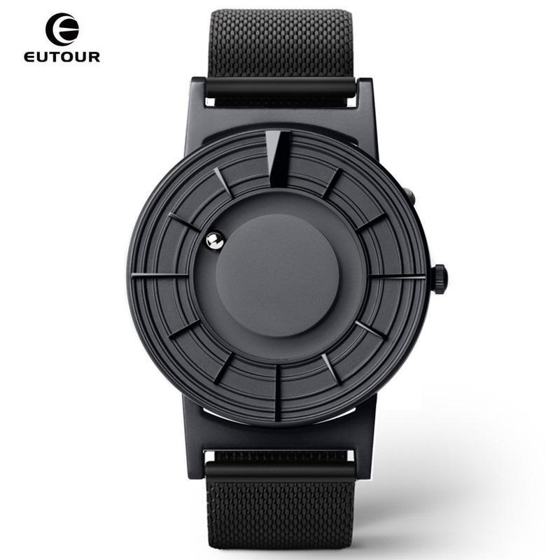 EUTOUR Magnetic Мужские часы кварцевые часы Человек Женщины Бал Показать Виды ремни Мода Повседневная наручные часы ERKEK кол- Saati 2019