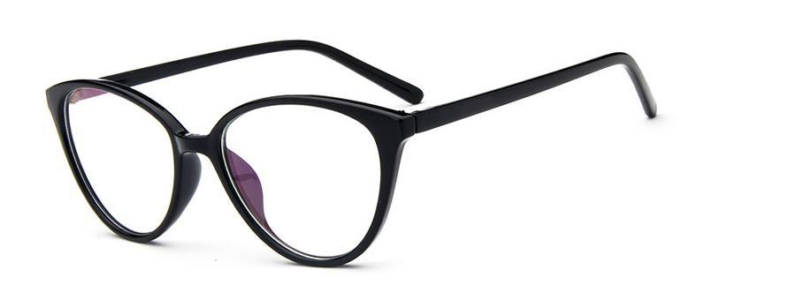Cat Eye Glass Frame Fashion Classic Frame Lens Espejo plano de alta calidad de Europa y América Popular Individual Frame grande Retro-vintag