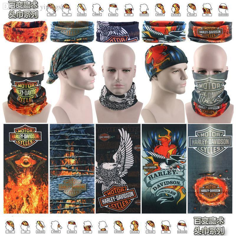Wholesale-Harley bandana Cycling Bicycle Variety Turban Magic Headband Multi Mask Head Scarf Scarves Face Mesh Bandanas Wholesale M161-168