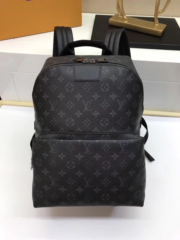 Mochila de cuero de lujo para hombre del diseñador de los bolsos de hombro de gran capacidad Bolsas Moda recorrido al aire libre bolso del mensaje B104917W