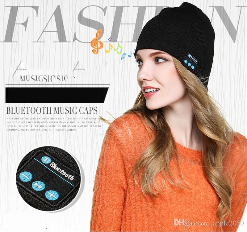 Bluetooth con banda de música Tejidos dormir auriculares auriculares inteligentes Accesorio de cabeza del auricular del altavoz de auricular inalámbrico Bluetooth invierno Sombrero nuevo