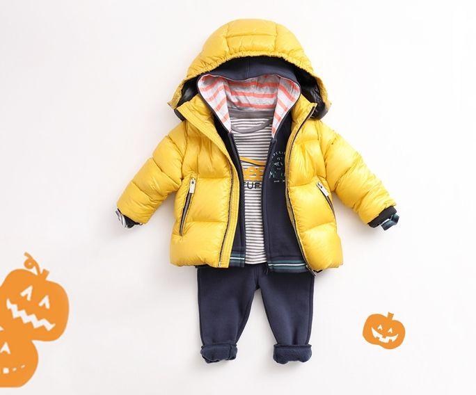 Новая прибывающая Марка Дженни Зимние Мальчики Детская Детская Куртка Толстая Куртка
