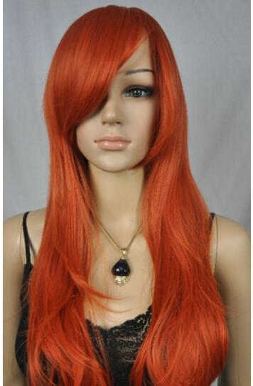 FREE SHIPPIN + DY52 New- Charm Lolita Red Gradual Change parrucca riccia cosplay