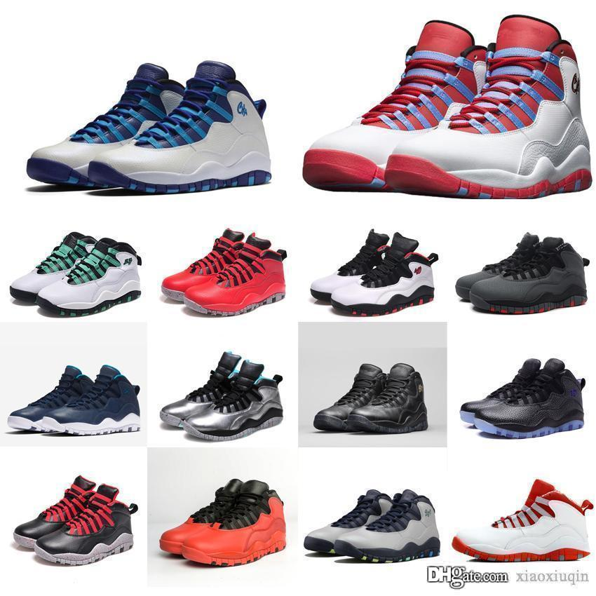 Mens Retro 10s Basketballschuhe Pulverblau Bobcat Chicago Charlotte NYC New York Rio Paris J10 aj10 Jumpman 10 X Turnschuhe Stiefel mit Kasten