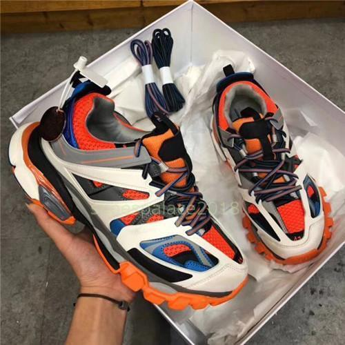 Hombres Mujeres Zapatos Casual las zapatillas de deporte de pista 3.0 Tess París Gomma Maille Negro Bajo Pista 3M Triple S zapatos al aire libre Correr Diseñador Clunky t12 c23