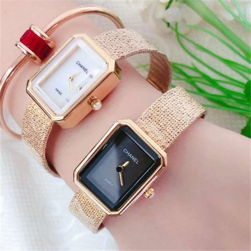 Lady Uhr 2020 Goldene Diamant-Uhr-Dame Famous Verkauf Fabrik Großhandel niedriger Preis Dial Square einfache Art und Weise Uhr-Geschenk für Mädchen