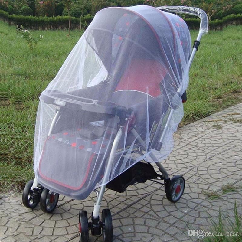 Moda Verano Beb/és Cochecito de beb/é Mosquito Net Buggy Pram Protector Sillita de paseo Fly Midge Insecto Bug Cover Cochecito Accesorios