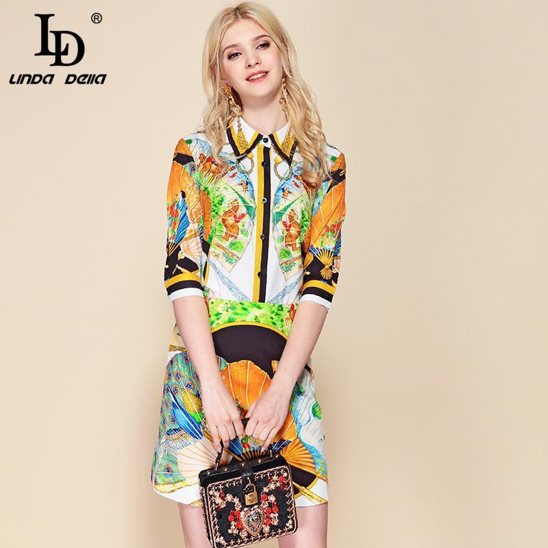 LD LINDA DELLA Créatrice de mode estivale 2 pièces à manches courtes pour femmes avec chemisiers imprimés et mini jupes décontractées ensembles costumes
