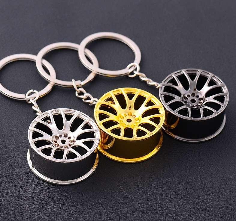 tekerlek göbeği Anahtar halkası Erkekler Kadınlar anahtarlık takı Yeni araba anahtarlık düğün Parti hediyesi Yüksek kaliteli Yeni Geliş