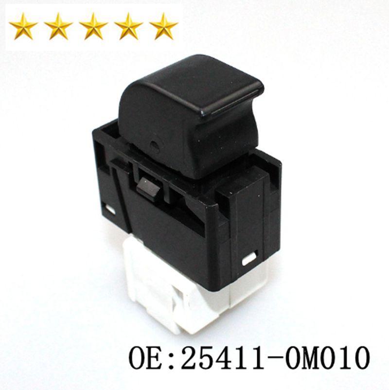 Qualitäts-elektrische Schalter für Fensterheber Steuerung 254110M010 25411-0M010 gepasst für Ni ssan Schwarz 6 Pins Fensterschalter Autoteile