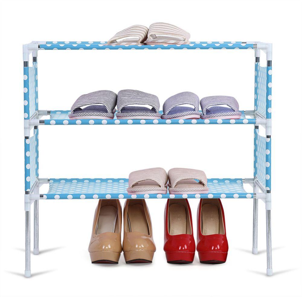 3/4/5/6 Tiers Shoes shelf Easy Assembly Shoes Storage Rack Organizer Assemble Shoe Cabinet Shoe
