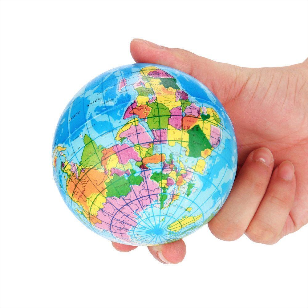2PCS Estresse Squeeze Relief World Map Simulação da Terra Brinquedos ventilação Descompressão Toy Toy Educacional bebê Pressure Relief Toy #A