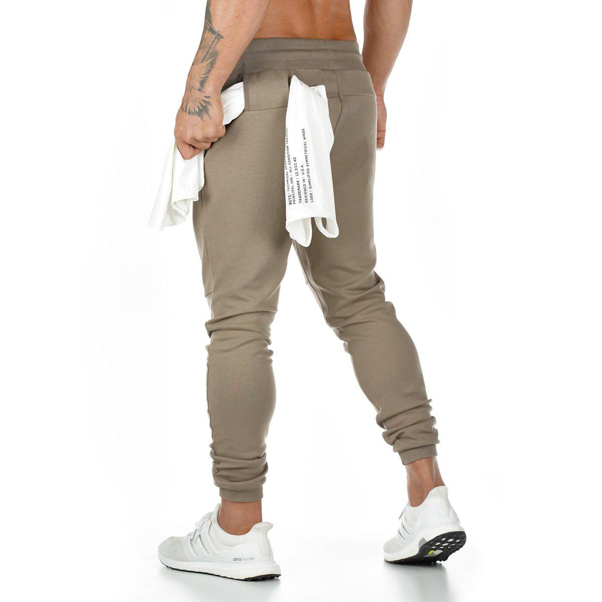 Wholesale Muscle Gym Breathable Summer New Letter Logo Sports Pants Mens Cotton Fitness Running Training Pants Designer Trousers
