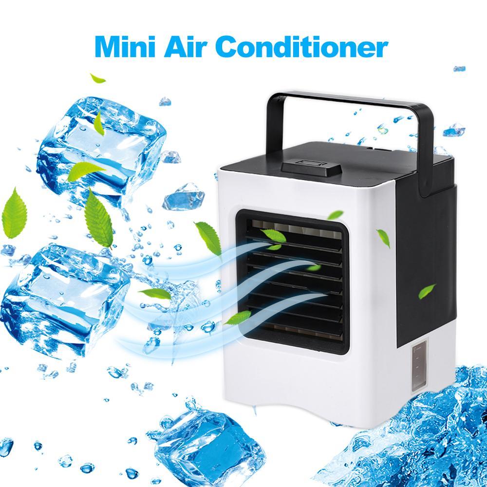 팬 오피스 홈 자동차 냉각 충전식 휴대용 에어컨 USB 미니 공기 냉각기 Hanlheld 에어