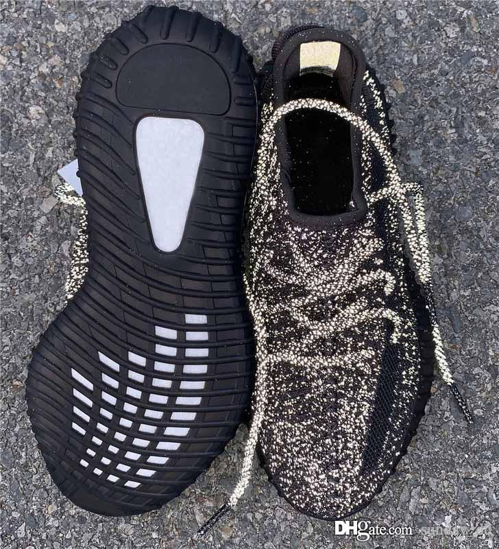 Yeni Yüksek Siyah 3M Yansıtıcı Womens Ayakkabı Koşu Yeezreel Yecheil Sitrin Bulut Beyazı Glow kanye Batı Tasarımcı Eğitmenler Spor Sneaker