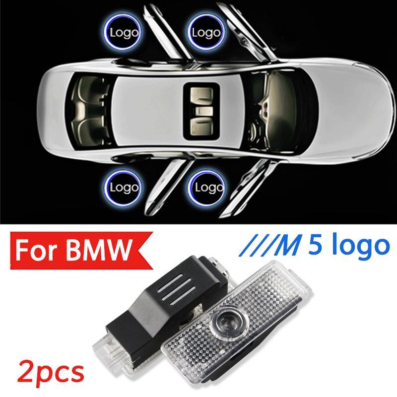 2pcs Led /// M5 Laser Projector Luz Para E60 E61 M Desempenho X dirigir o carro da porta Luz Fantasma Acessórios Sombra Lâmpada