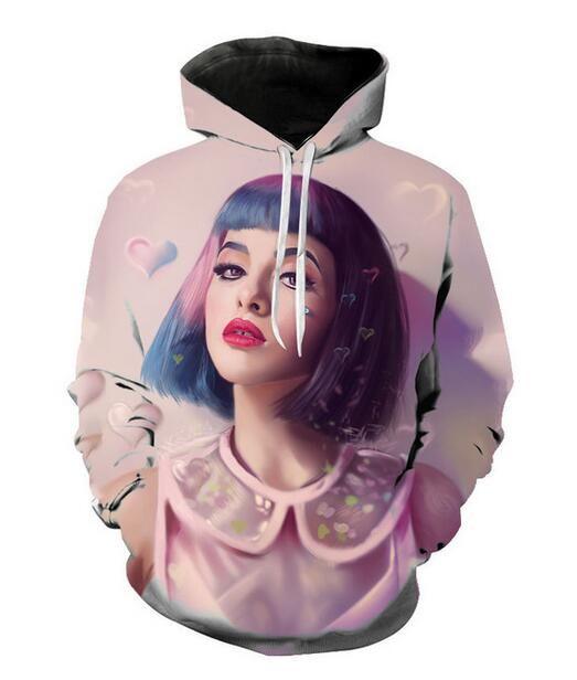 Mens Designer Hoodies für Frauen Männer Paare Sweatshirt Lovers 3d Melanie Martinez Hoodies Coats Hoodies Tees Kleidung R190