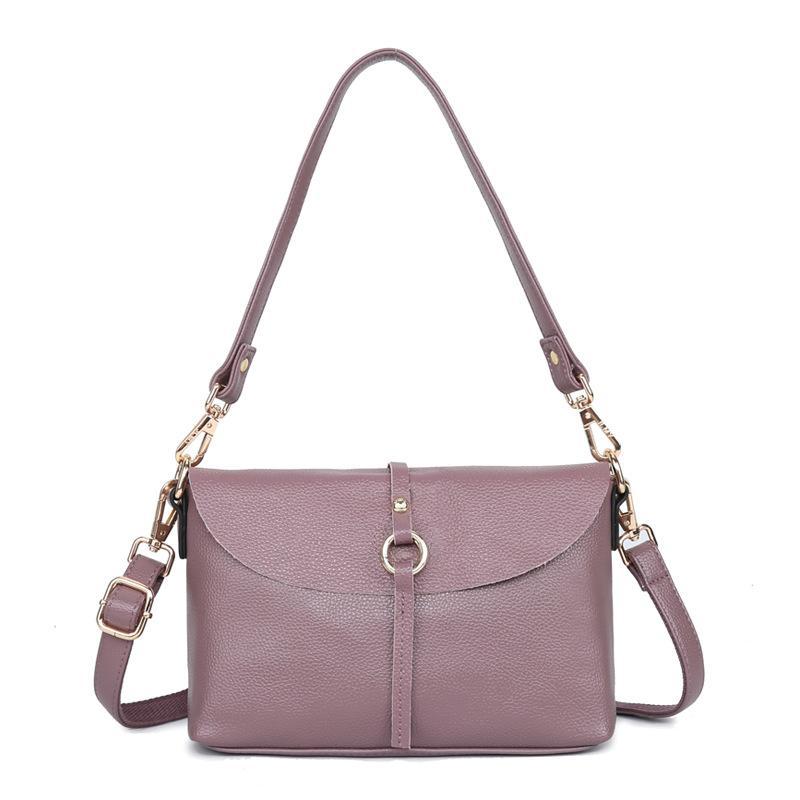 2019 новая кожаная сумка европейская и американская мода простой кожаный мешок плеча портативный диагональный пакет