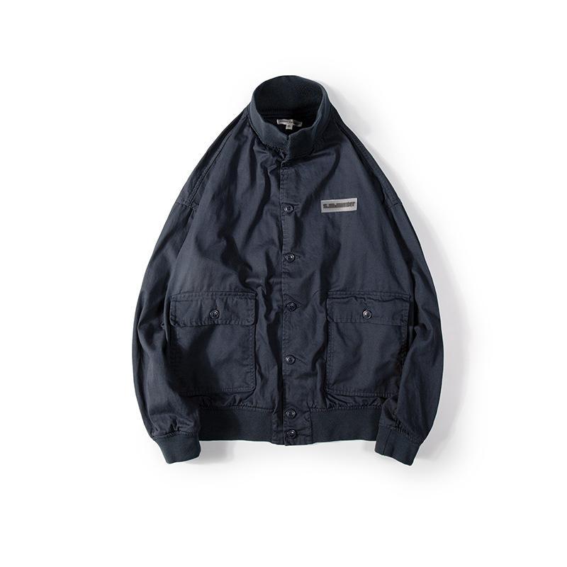 [60 Yuan] style japonais en vrac et tailles Plus Support entièrement Collier fil Tooling Veste jeunesse Lavé Manteau coton