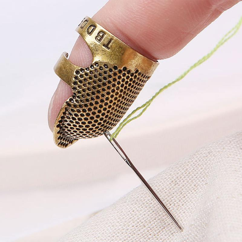 Copper M Rubyyouhe8 Vintage Adjustable Thimble Pin Needle Finger Protector DIY Sewing Ring Tool