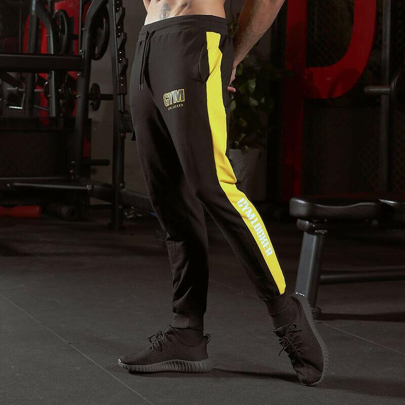 2019 Новые повседневные брюки мужчины Спортивные штаны Gym Slim Fit Брюки Бег бегуны Gym Sweatpants