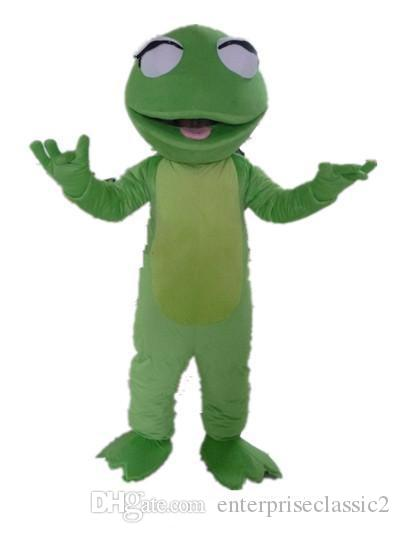 With one mini fan inside the head adult A cute frog mascot costume for sale