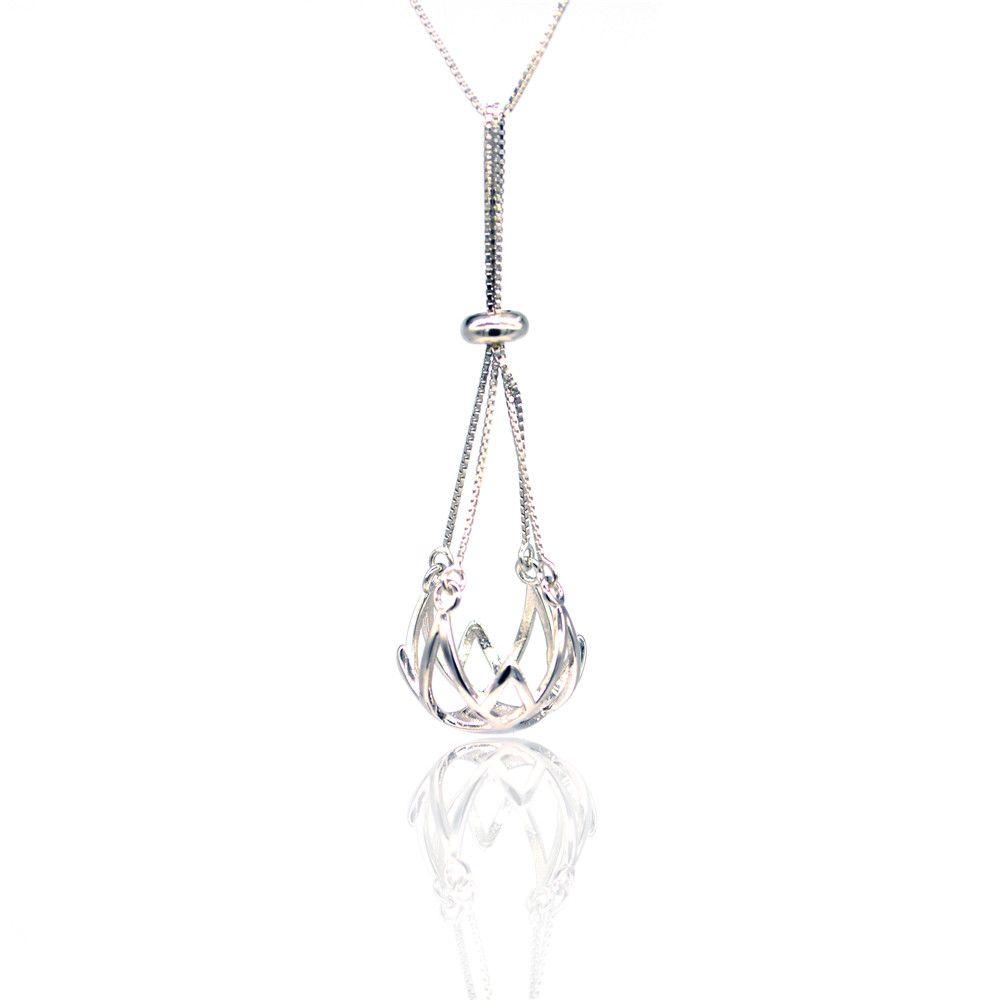 Оптовая продажа мода S925 стерлингового серебра кулон крепления воздушный шар жемчужина кулон крепления DIY ожерелье аксессуары бесплатная доставка