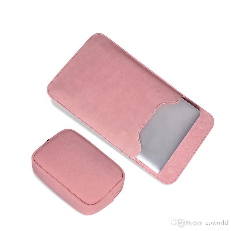 ماوس الوسادة الحقيبة أكياس دفتر القضية ل xiaomi macbook air 12 13 غطاء الشبكية برو 15 حقيبة كمبيوتر محمول حقيبة جلدية