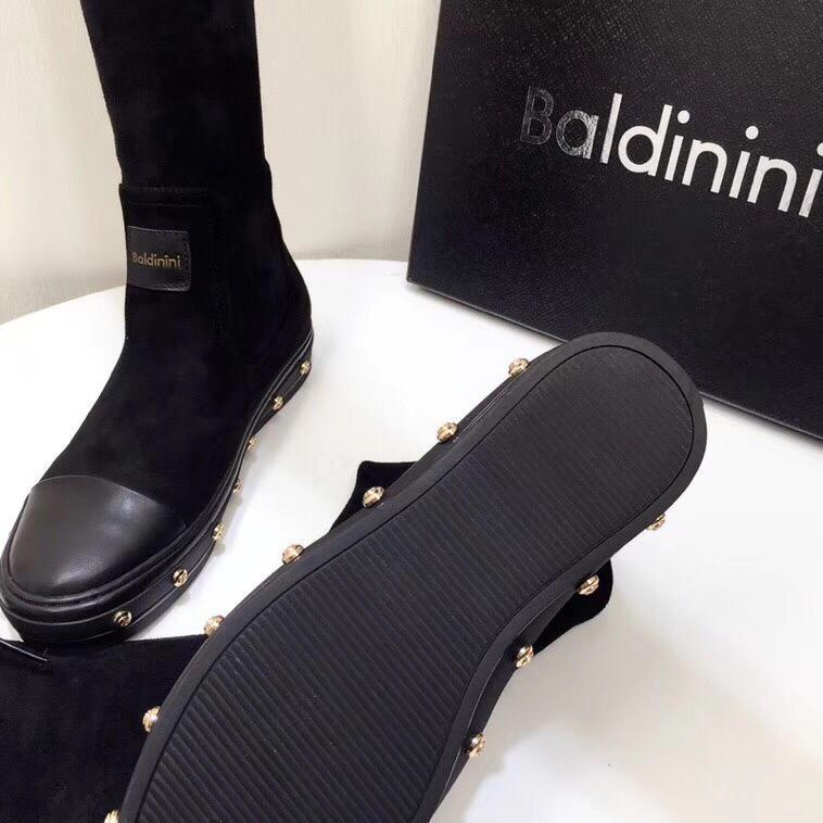 Hot Sale-y Designer Frauen Booties italienische Marke über das Knie Stiefel Schwarz Wildleder schnüren sich oben Schenkel-hohe Stiefel-Party-Schuhe