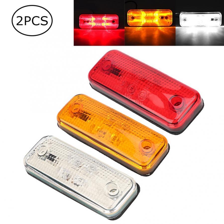 2 pcs 4 LED Side Marker Light Signal Clearance Lamp for Trailer Truck Side Marker Light Lamp 10V-30V