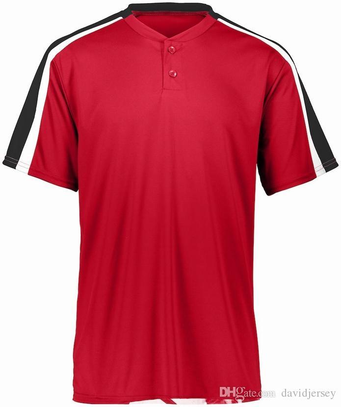 112 212 Yeni Özel Blank Beyzbol Jersey Erkekler Kadınlar Boyut S-3XL Düğme Aşağı Pullover dfd