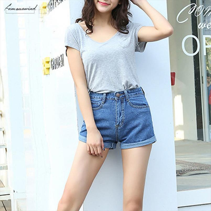 Da cintura Denim alta Shorts Plus Size 100% algodão Xl fêmea jeans para mulher Verão senhoras Hot Shorts