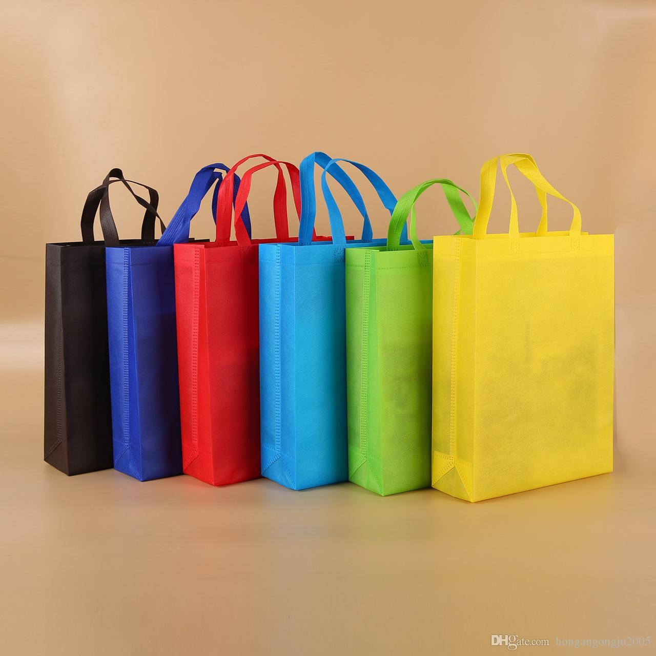 Nuovo colorato pieghevole in tessuto sacchetto non tessuto pieghevole riutilizzabile Shopping Bags Eco-Friendly pieghevoli Bag Shopping Bags nuovi sacchetti delle signore di stoccaggio
