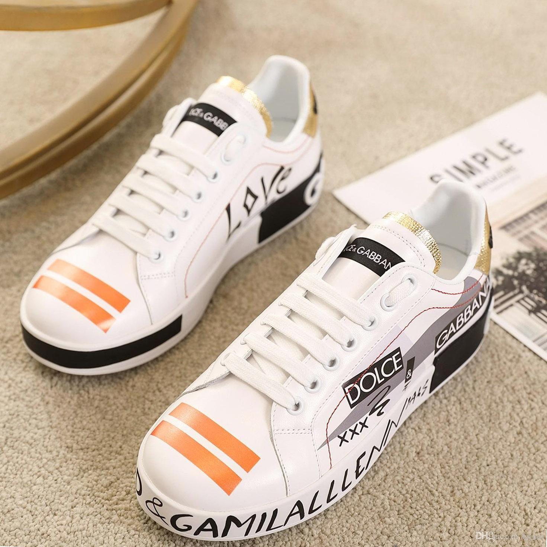 qualidade limitada Top couro Mens sapatos casuais, Plataformas Imprimir padrão par sapatos de moda personalidade selvagem sapatos desportivos Tamanho: 35-45 0071
