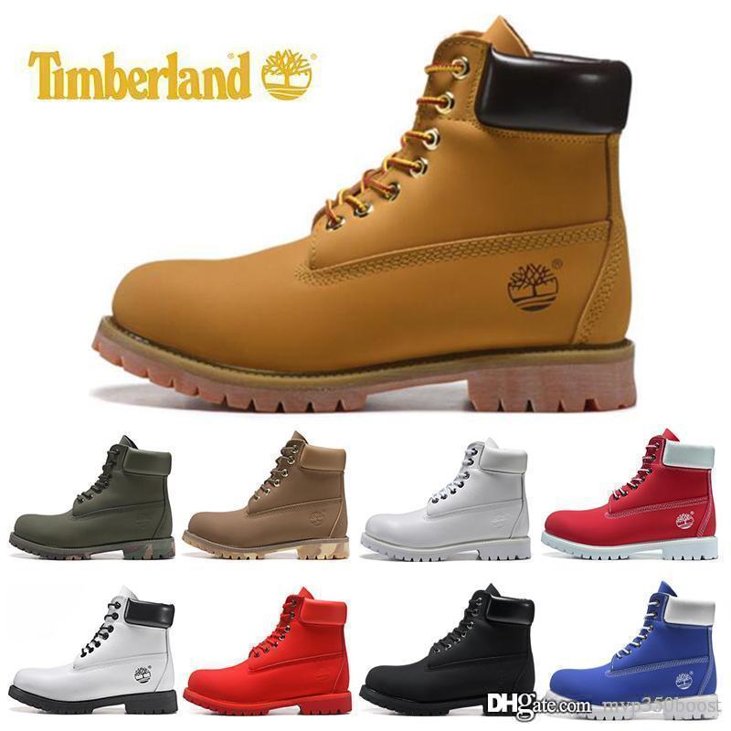 botas de lujo del diseñador de calidad para hombre botas de invierno para mujer de tamaño superior militar Triple Blanco Negro Camo 36-45