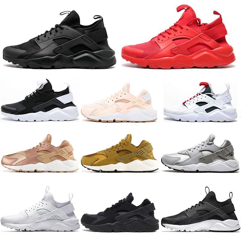 2019 Hotsale Huarache 4,0 1,0 erkekler üçlü beyaz yeşil Balck pembe gül altın spor ayakkabı boyutu kırmızı koşu ayakkabıları womens 36-45