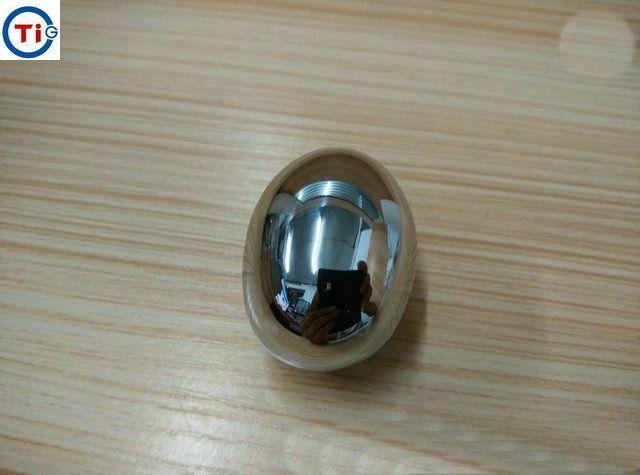 2019 Nuovo protesica testicolo uovo di titanio dell'acciaio sesso di gioco gioca Bdsm Sm impiantato scroto Hollow Egg prodotti adulti di trasporto